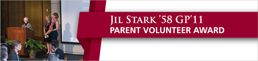 Jil Stark '58 GP'11 Parent Volunteer Award